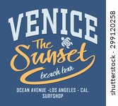 surf california typography  t... | Shutterstock .eps vector #299120258
