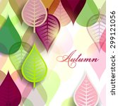 abstract background with autumn ... | Shutterstock .eps vector #299121056
