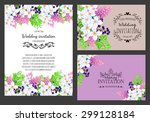 wedding invitation cards with... | Shutterstock . vector #299128184