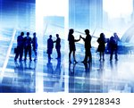corporate business people team... | Shutterstock . vector #299128343