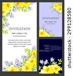 romantic invitation. wedding ... | Shutterstock .eps vector #299128580