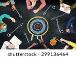 goal target success aspiration... | Shutterstock . vector #299136464