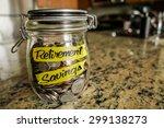 retirement savings money jar. a ... | Shutterstock . vector #299138273
