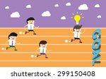 running businessman at the... | Shutterstock .eps vector #299150408