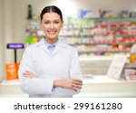 medicine  pharmacy  people ... | Shutterstock . vector #299161280