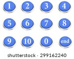 number button isolated on white ...