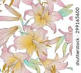 seamless vector floral pattern. ... | Shutterstock .eps vector #299165600