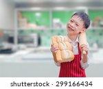 Little Asian Boy Chef In Kitchen