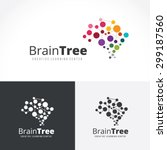 brain tree brain logo mine... | Shutterstock .eps vector #299187560