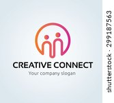 creative connect  people ... | Shutterstock .eps vector #299187563