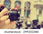 closeup of a man taking a... | Shutterstock . vector #299202380