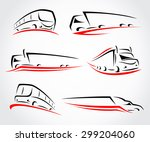 trucks set. vector | Shutterstock .eps vector #299204060