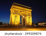 arc de triomphe in paris | Shutterstock . vector #299209874
