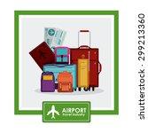 airport digital design  vector... | Shutterstock .eps vector #299213360