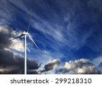 Wind Turbine And Blue Sky With...
