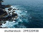Sea Waves Breaking On Rocks...