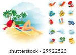 recreation icon set. vector. | Shutterstock .eps vector #29922523