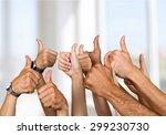 thumbs up  agreement  human... | Shutterstock . vector #299230730