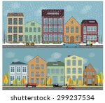 vector city buildings... | Shutterstock .eps vector #299237534