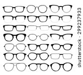 set of different glasses on... | Shutterstock . vector #299237933