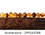 Necklace Made Of Amber On The...