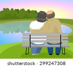 Vector Illustration Of Elderly...
