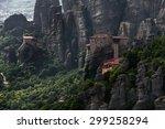 amazing meteora in greece | Shutterstock . vector #299258294