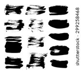 abstract black vector strokes... | Shutterstock .eps vector #299258468