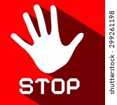 stop palm hand vector flat...