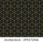 seamless neon orange hexagonal... | Shutterstock . vector #299272406