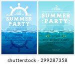 summer party. template poster.... | Shutterstock .eps vector #299287358