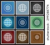 globe. icon. vector design | Shutterstock .eps vector #299288774