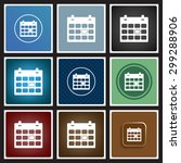 calendar. icon. vector design | Shutterstock .eps vector #299288906