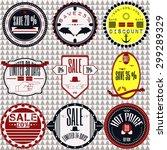 set of sale price discount... | Shutterstock .eps vector #299289329
