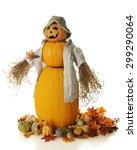 A Snowman Style Pumpkin Man...