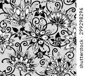 seamless flower pattern. lovely ... | Shutterstock .eps vector #299298296
