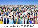 large group of diverse... | Shutterstock . vector #299315168