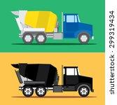 Cement Truck Vector  Illustrator