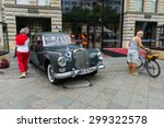 "Small photo of BERLIN - JUNE 14, 2015: Luxury vehicle Mercedes-Benz 300d ""Adenauer"" (W189), 1959. The Classic Days on Kurfuerstendamm."