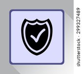 shield sign icons  vector... | Shutterstock .eps vector #299327489