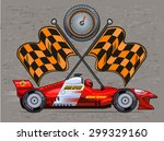 sport race car | Shutterstock .eps vector #299329160