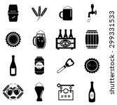 beer icons set illustration | Shutterstock .eps vector #299331533
