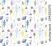 seamless vector pattern. gentle ... | Shutterstock .eps vector #299332370