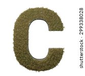 letter c made of dead grass ...