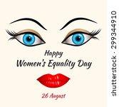 illustration of happy womens... | Shutterstock .eps vector #299344910
