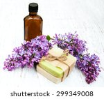natural handmade soap and lilac ...   Shutterstock . vector #299349008