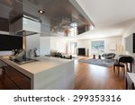 interior of apartment  wide... | Shutterstock . vector #299353316
