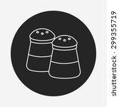 sauce bottle line icon | Shutterstock .eps vector #299355719