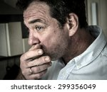 man smocking sigarette in the... | Shutterstock . vector #299356049