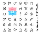 outline web icon set. baby toys ... | Shutterstock .eps vector #299371670